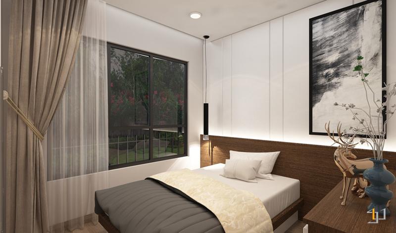 Nội thất tổng thể phòng ngủ nhỏ