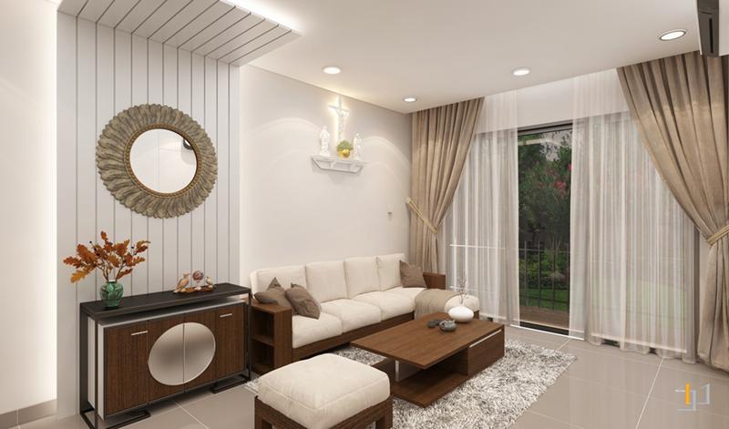 Thiết kế nội thất vách Sofa phòng khách