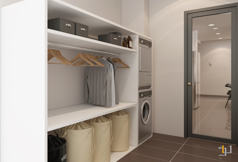 Thiết kế nội thất phòng giặt ủi căn hộ