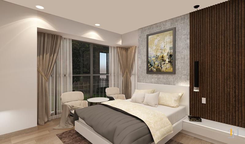 Thiết kế nội thất tổng thể phòng ngủ Master