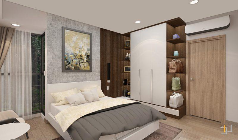 Thiết kế nội thất tủ quần áo phòng ngủ Master