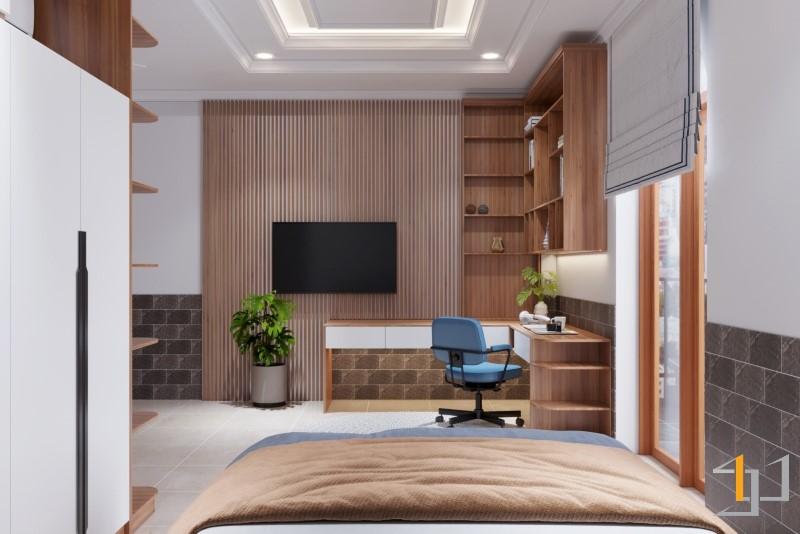 Thiết kế tủ sách cho phòng ngủ