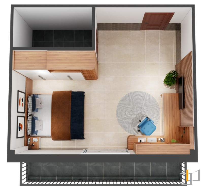 Phòng ngủ đẹp cho nhà phố