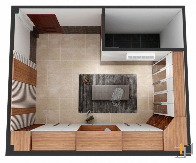 Thiết kế nội thất phòng thay đồ đẹp