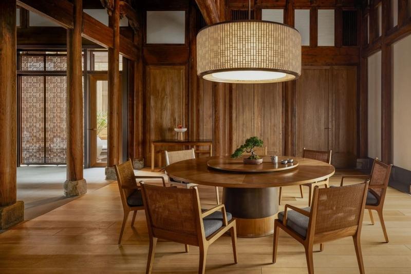 Phòng ăn trong thiết kế nội thất khu nghỉ dưỡng