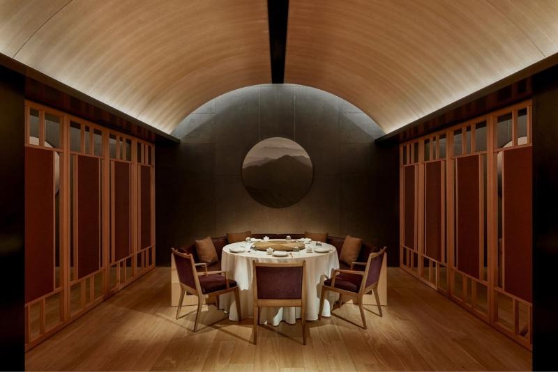 Thiết kế nội thất phòng ăn riêng trong khu nghỉ dưỡng