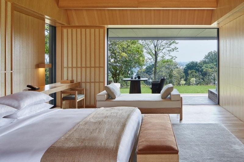 Phòng ngủ trong thiết kế nội thất resort