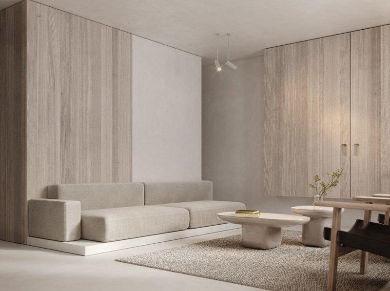 Không gian tối giản trong thiết kế phòng khách