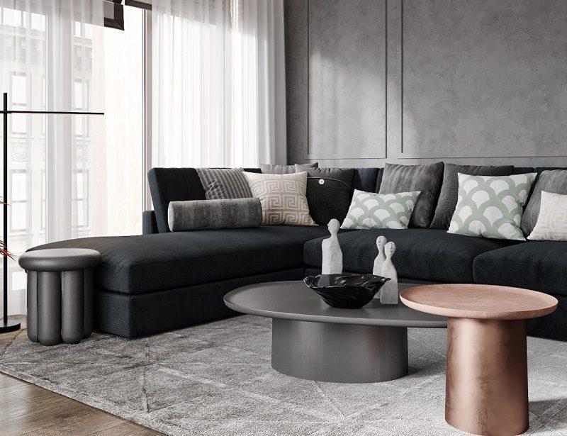 Bố cục cũng quan trọng trong trang trí nội thất phòng khách tối giản
