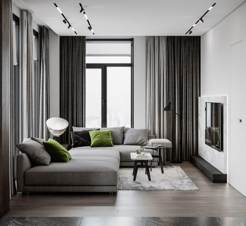 Không gian nội thất mang hơi hướng hiện đại