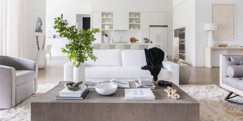 Phong thủy là yếu tố quan trọng bên trong phòng khách hiện đại