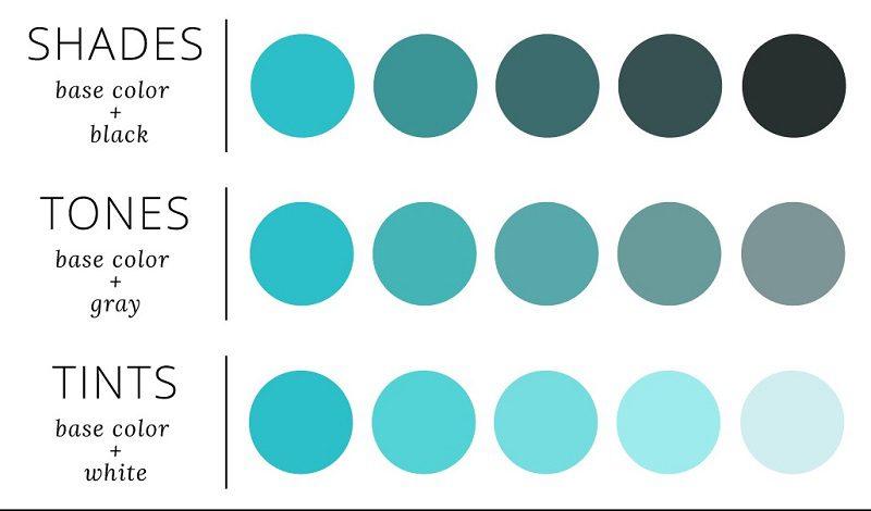 Các gam màu dùng trong thiết kế