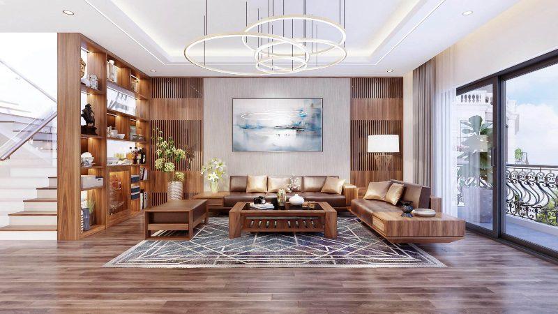 Thiết kế nội thất phòng khách Á Đông