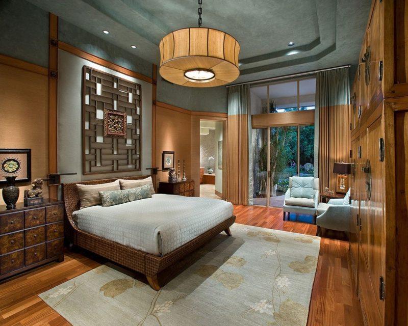 Bố trí nội thất phòng ngủ đẹp theo phong cách Á Đông