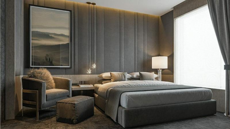 Thiết kế nội thất phòng ngủ phong cách luxury