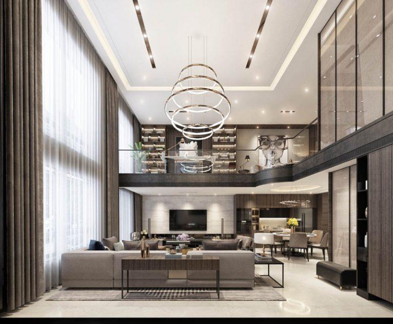 Thiết kế nội thất biệt thự phong cách luxury