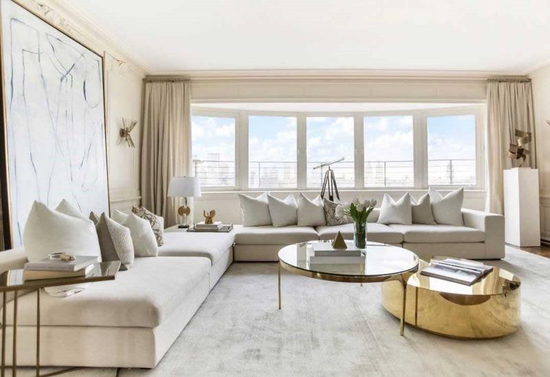 Nội thất phòng khách chung cư phong cách luxury
