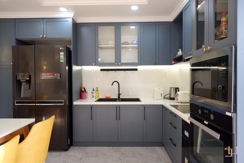 Thi công nội thất bếp hoàn thiện cho nhà phố