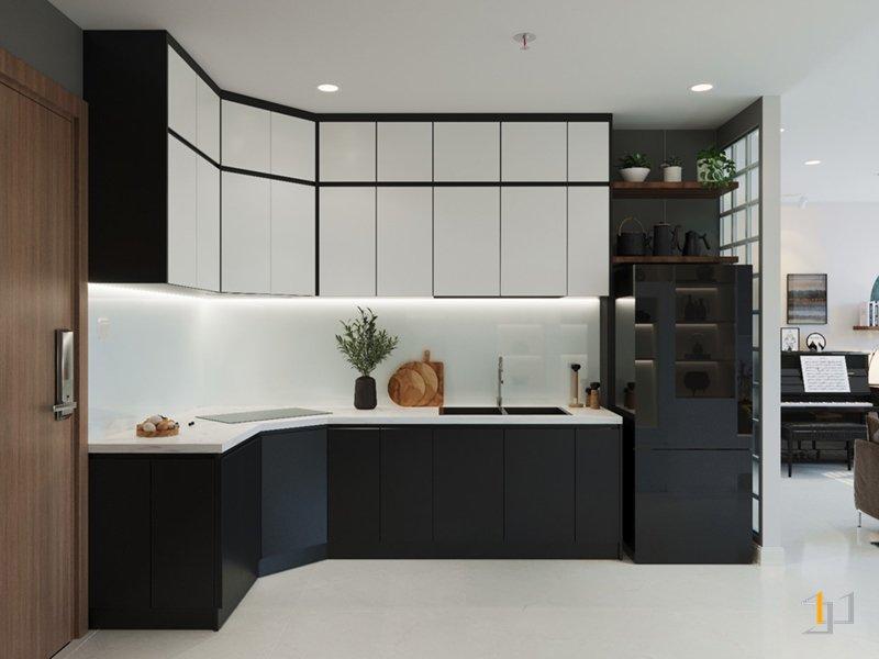 Thiết kế tủ bếp đẹp cho chung cư