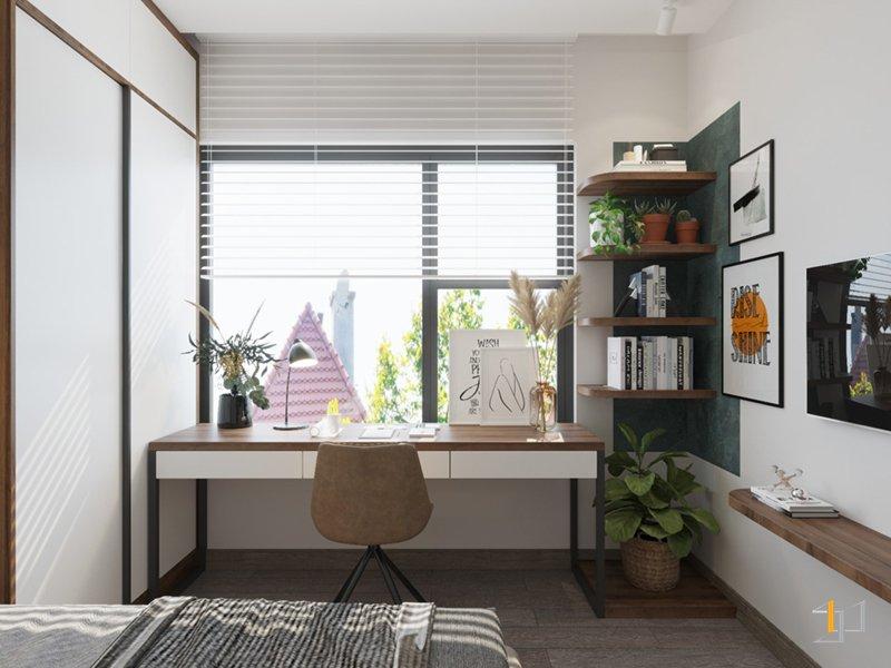 Thiết kế bàn học đẹp cho phòng ngủ chung cư