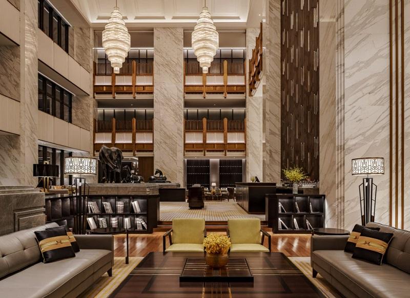 Không gian sảnh khách sạn ấn tượng, sang trọng
