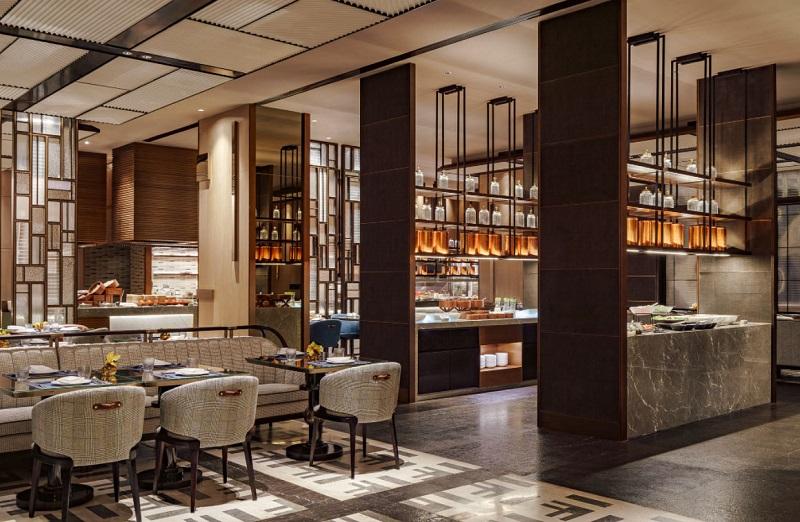 Thiết kế nội thất phòng ăn trong khách sạn