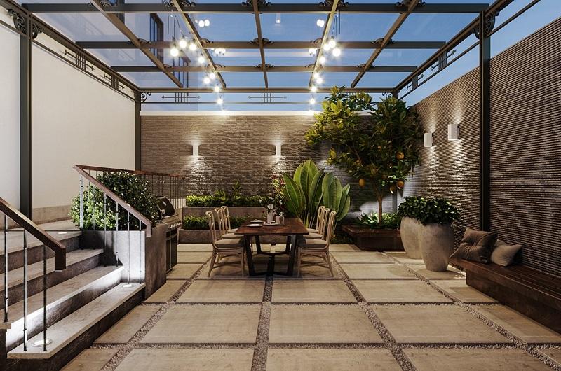 Không gian sinh hoạt chung trong nhà vườn