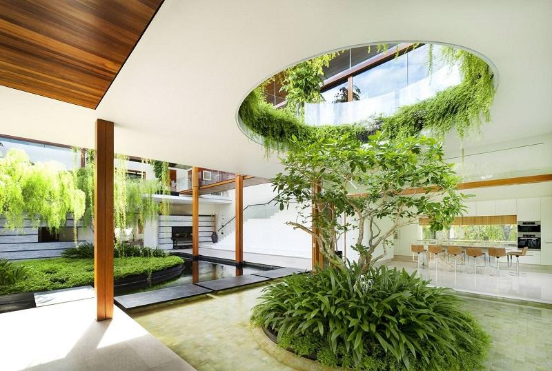 Hệ sinh thái bên trong nhà vườn