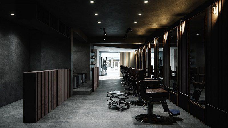 Thiết kế nội thất salon tóc phong cách hiện đại