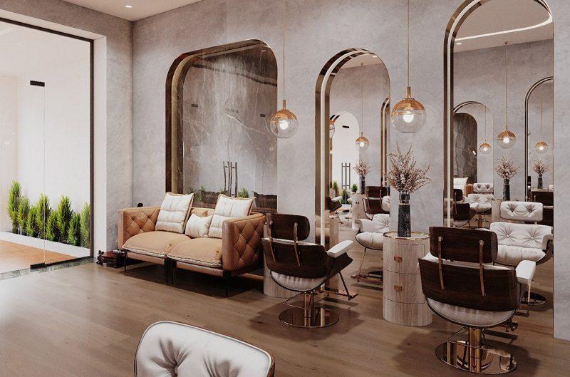Thiết kế nội thất salon tóc phong cách Tân cổ điển