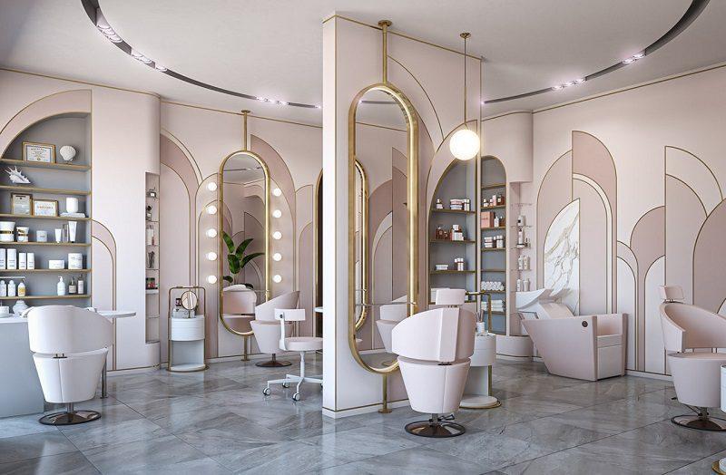 Lựa chọn và bố trí gương soi trong salon tóc