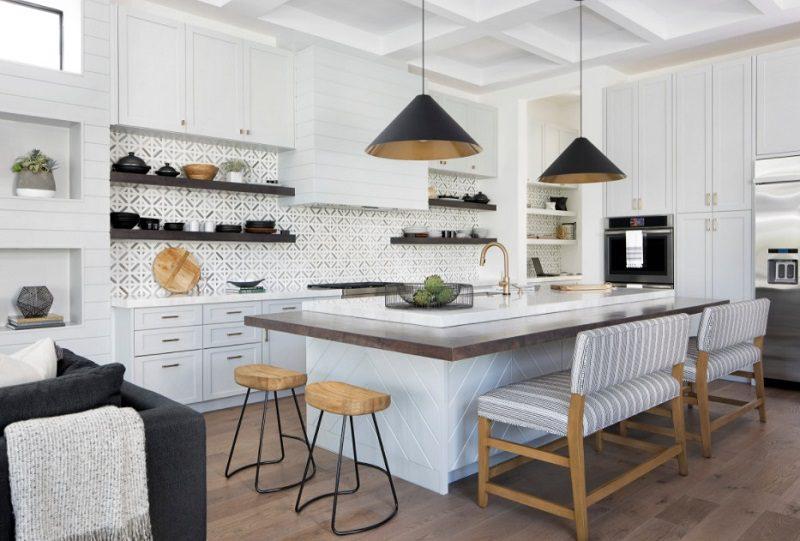 Các họa tiết trong thiết kế tủ bếp