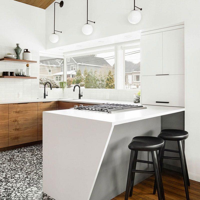 Ấn tượng với thiết kế tủ bếp gỗ tự nhiên