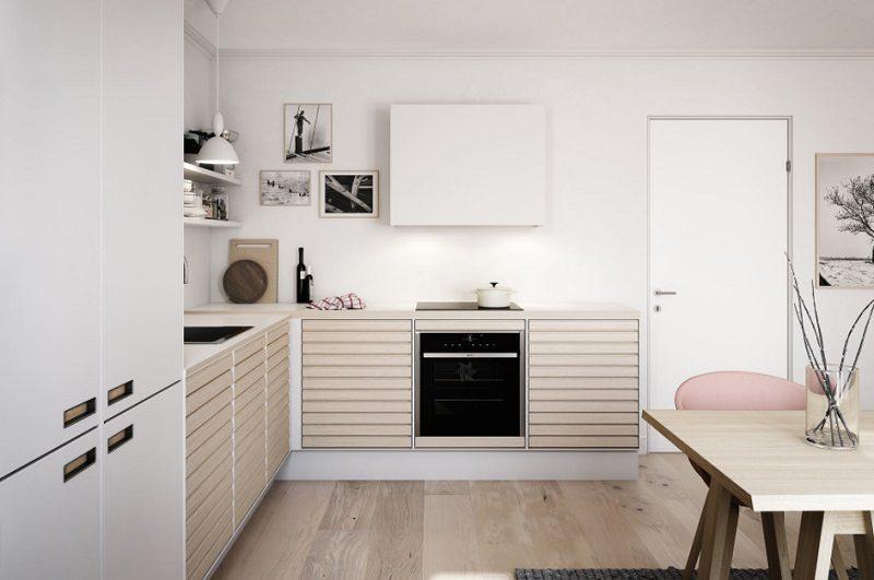 Tủ bếp phong cách Scandinavian
