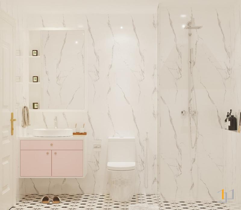 Thiết kế phòng tắm nhỏ cho trẻ