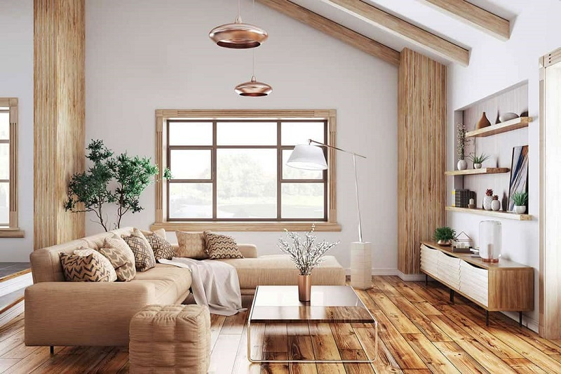 Vật dụng nội thất cơ bản cho phòng khách đơn giản