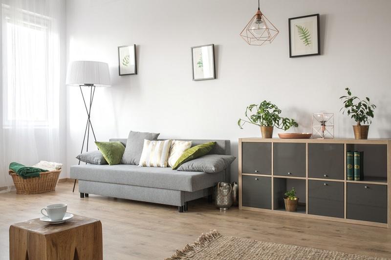 Bố trí cây xanh trang trí nội thất phòng khách