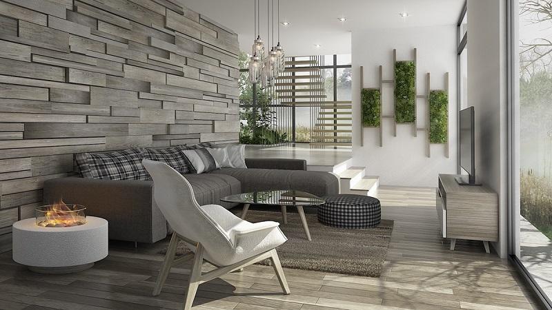 Sàn gỗ thẩm mỹ cho không gian phòng khách