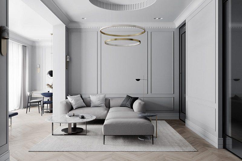 Màu sắc ấn tượng trong không gian phòng khách