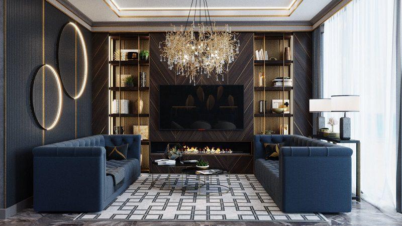 Tính đối xứng hoàn hảo khi thiết kế phòng khách