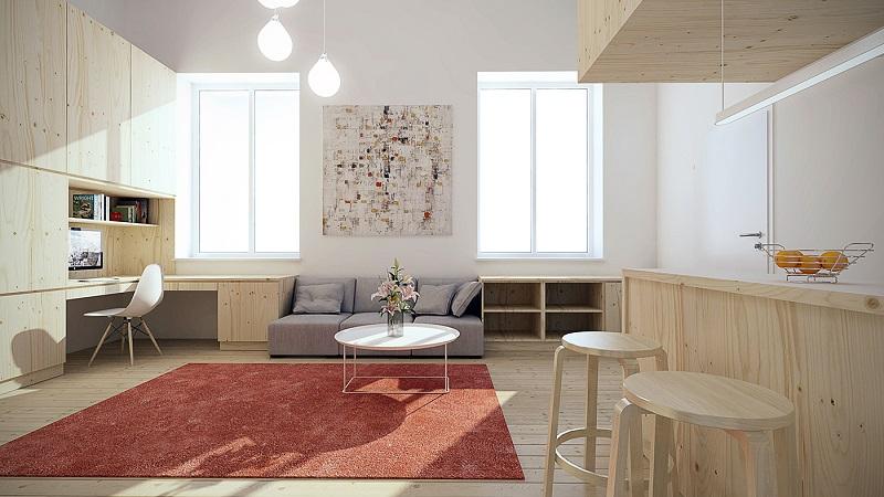 Xu hướng tối giản phù hợp khi thiết kế phòng khách nhỏ 10m2