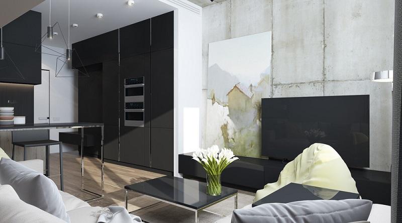 Chất liệu nội thất dùng trong phòng khách rộng 30m2