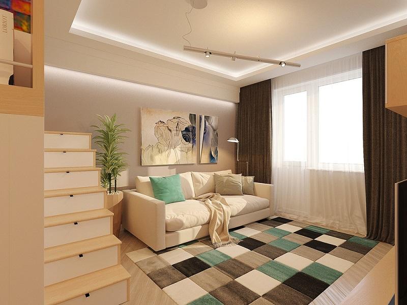 Trang trí phòng khách rộng 30m2 bằng ánh sáng