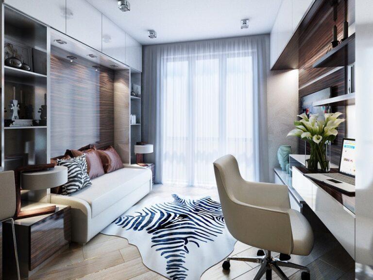 Bảng màu độc đáo cho không gian phòng khách rộng 30m2
