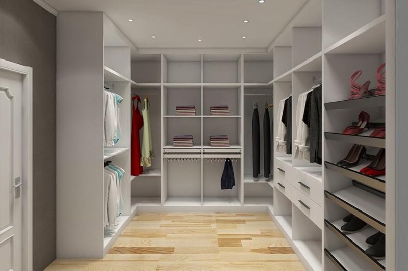 Thiết kế phòng quần áo đơn giản đẹp