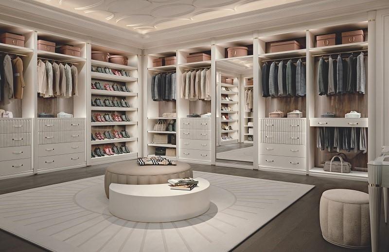Tủ quần áo được thiết kế âm tường