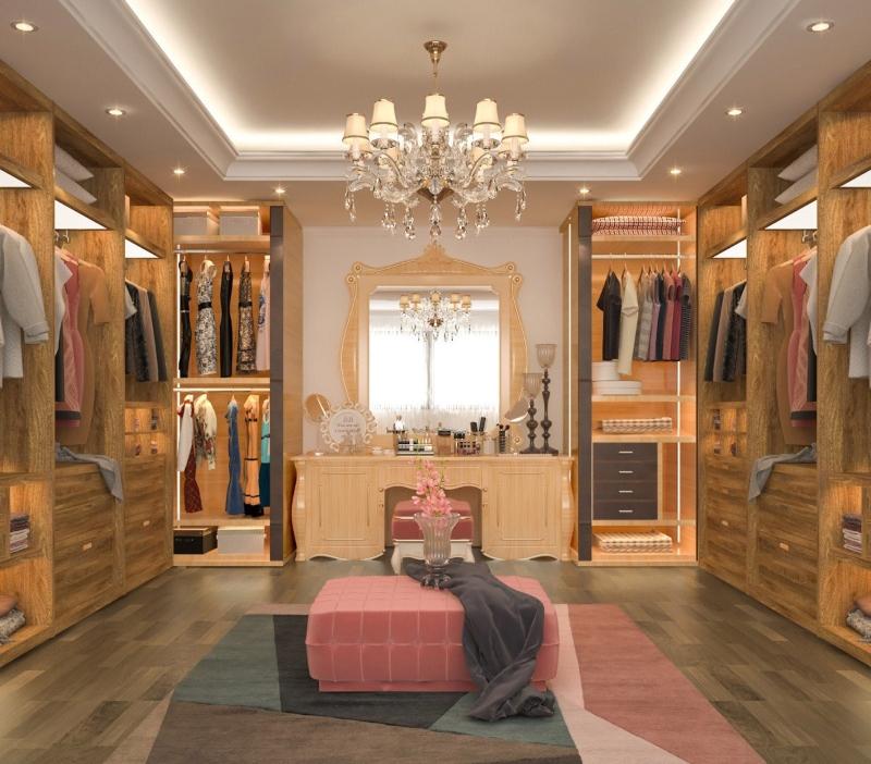 Phòng đựng đồ phong cách Tân cổ điển