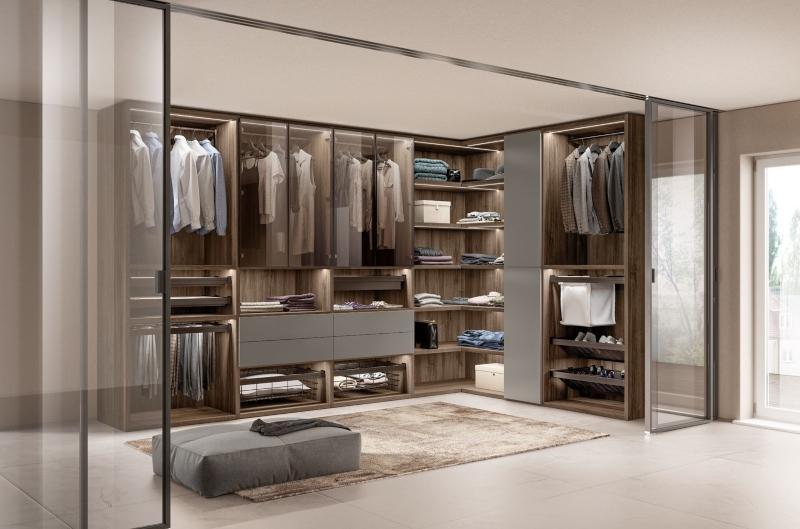 Tủ quần áo có nhiều ngăn chia