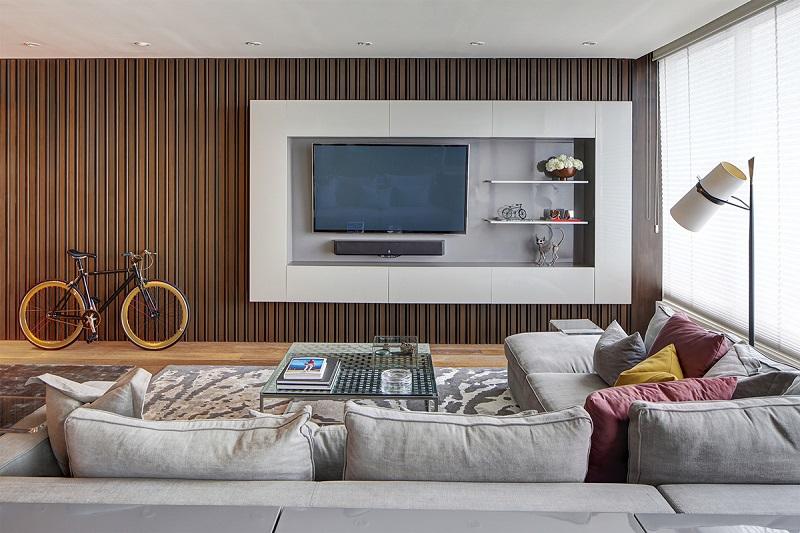 Trang trí nội thất phòng khách gỗ rất đa dạng kiểu dáng