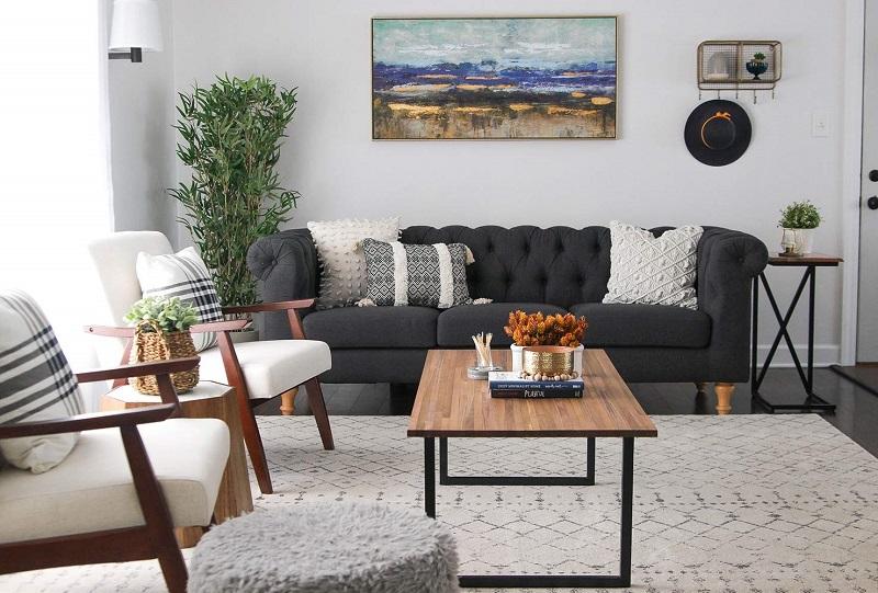 Trang trí nội thất phòng khách nhỏ với nội thất vừa phải
